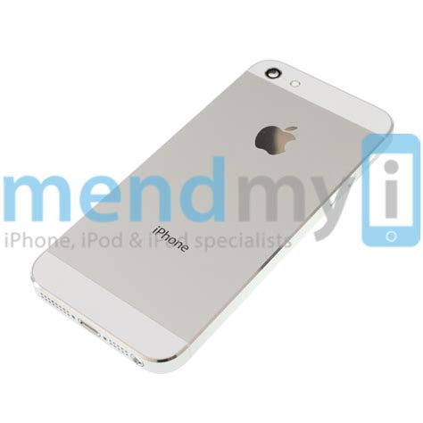 iphone 5 housing iphone 5 aluminium back housing mid frame white mendmyi