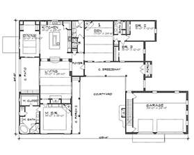 Spanish Style Home Plans With Courtyard Floor Plan Image Of La Hacienda House Plan The House