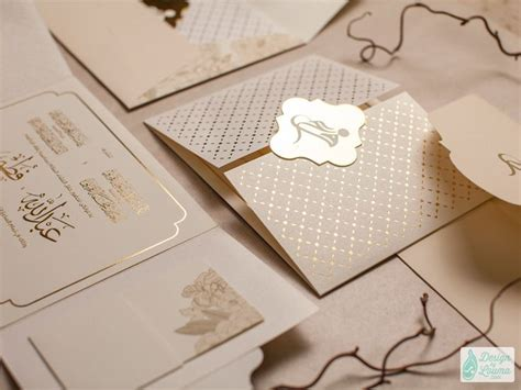 wedding invitation in dubai gatefold wedding invitation for dubai uae with subtle gold ivory and light browns a