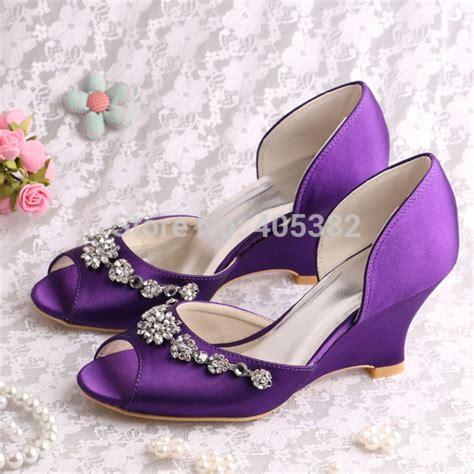 20 colors custom handmade peep toe wedge heel wedding