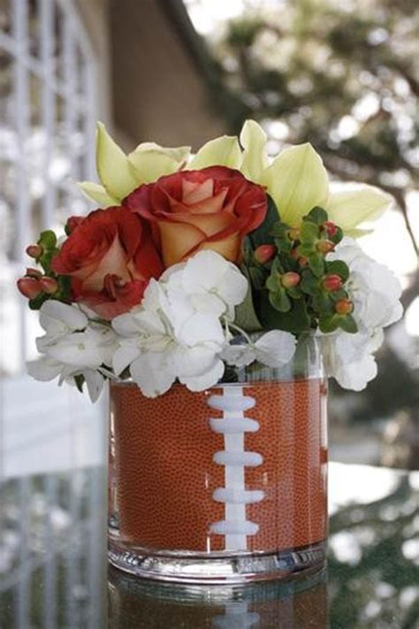 football banquet centerpieces football centerpieces for day b lovely events