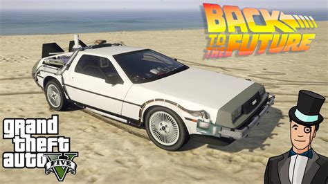 mod gta 5 delorean gta 5 mods delorean mod from back to the future gta v