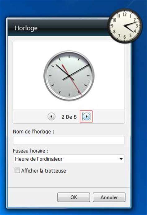 afficher horloge sur bureau windows 7 comment afficher l heure sur windows 7