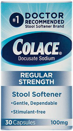 Stool Softener Vs Laxative Constipation by Colace 174 Docusate Sodium