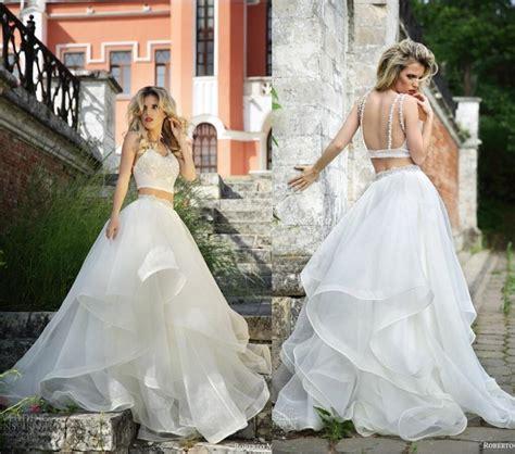 arrival two piece roberto motti backless wedding dress