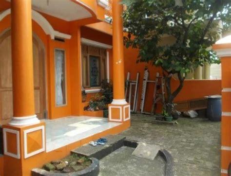 warna cat teras rumah  tampak depan  menawan