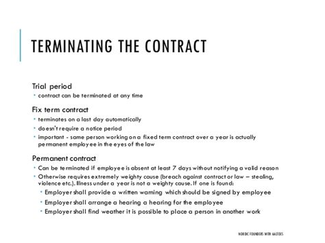 Contract Period Letter Startup Employment Contracts And Actual Cost Of Hiring Nordi