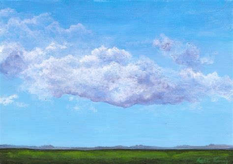 acrylic painting sky 5 x 7 landscape acrylic painting blue sky purple by