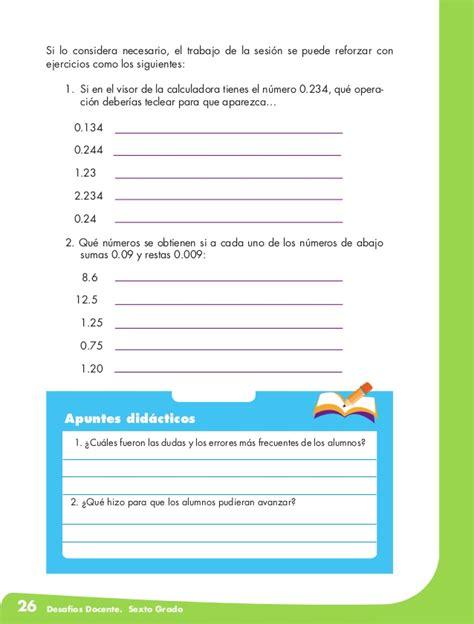 matematicas 6 grado contestado el equipo de caminata desafios matematicos docente sexto grado