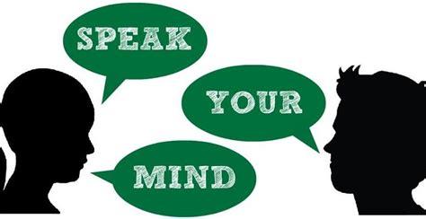 should you speak your mind the remarkable leader