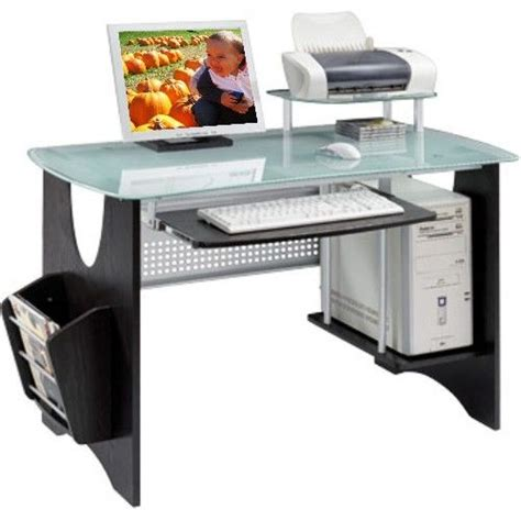 High Tech Computer Desks Techni Mobili Rta 3325 Tempered Glass Computer Desk This Unique Lets You Work On The High