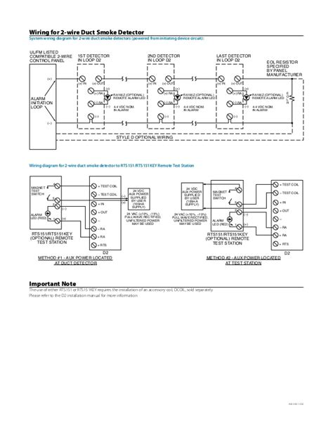typical duct smoke detector wiring diagram duct