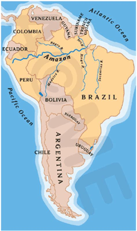 map of south america river river map south america rivers