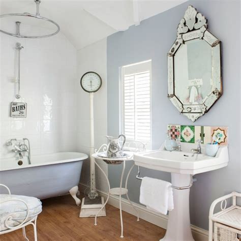 Marvelous Coloured Free Standing Bath #3: Soft-Blue-and-White-French-Style-Bathroom-Style-at-Home-Housetohome.jpg
