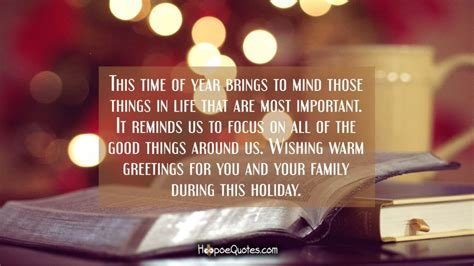 time  year brings  mind    life    important  reminds