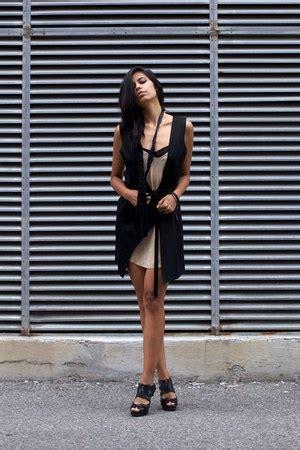 Ootd 3in1 black 3in1 vest dress araujo vests silk slip