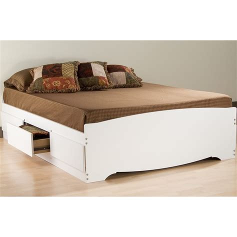 full storage platform bed full platform storage bed in beds and headboards
