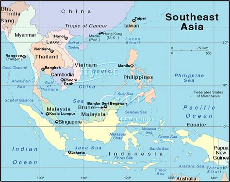 map of south east asia satellite views and political maps of south east asia