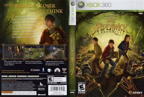 spiderwick chronicles xbox 360 game covers spiderwick chronicles dvd ntsc dvd