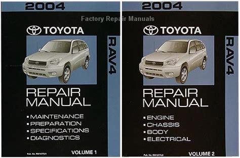 car engine repair manual 1996 toyota rav4 electronic valve timing 2004 toyota rav4 factory service manual 2 volume set original shop repair factory repair manuals