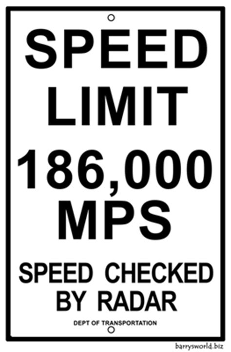 speed limit 1 barry s world
