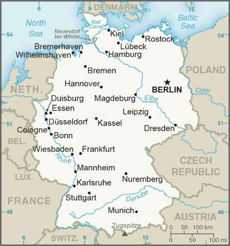 map of deutschland germany germany