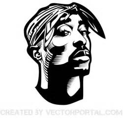 Parallelgraphics Outline 3d by Rapper Tupac Shakur Vector Graphics At Vectorportal