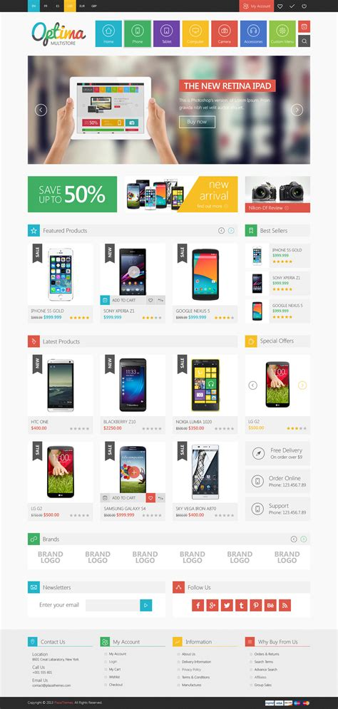 magento homepage template responsive magento themes templates design graphic