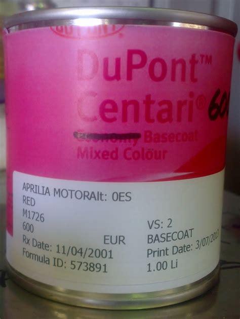 aprilia rsv4 color code