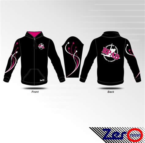 design jacket softball gymnastics dance jacket design 6 zero sports