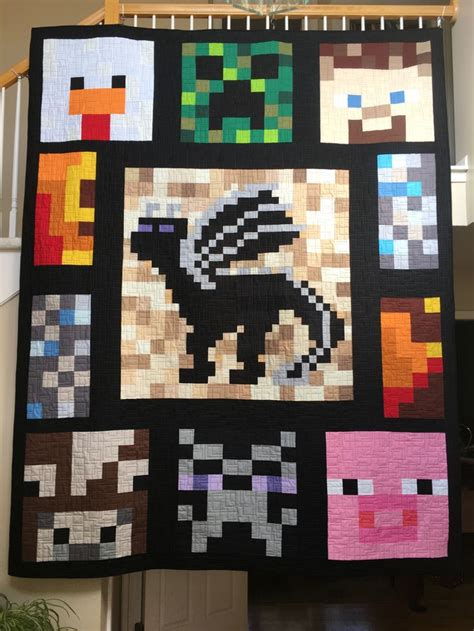 25 best images about minecraft quilt on