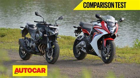 honda cbr 600 for sale near me honda cbr 650f vs kawasaki z800 comparison bikes