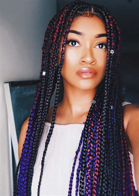box braids with bang in back 35 awesome box braids hairstyles you simply must try