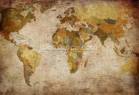 old style world map wallpaper wall mural wallsauce usa