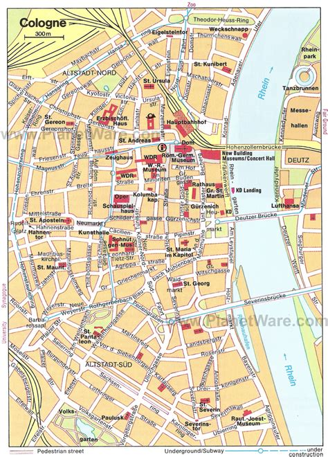 map of koln germany 14 top tourist attractions in cologne planetware