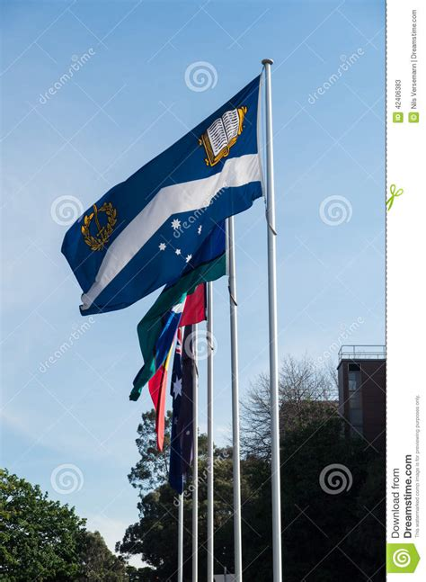 flags of the world melbourne monash university in melbourne editorial stock photo