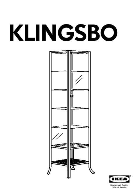 Klingsbo Glass Door Cabinet Klingsbo Glass Door Cabinet Black Clear Glass Ikea United Kingdom Ikeapedia