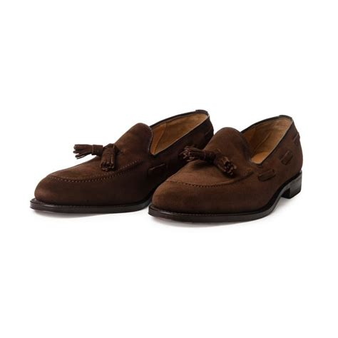 loafers suede suede tassel loafer loake lincoln mod shoes