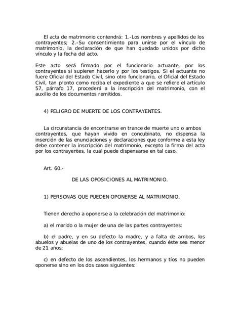 declaracion jurada de matrimonio ley no 659 del 17 de julio de 1944 sobre actos del