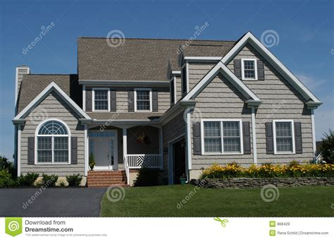 Contemporary Ranch House Plans Contemporary Suburban Home Stock Image Image Of Lawn