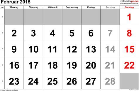 Kalender Februar Kalender Februar 2015 Als Word Vorlagen