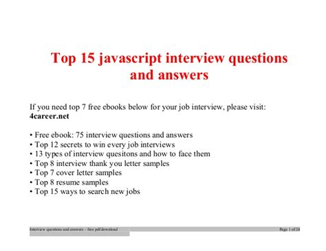 javascript tutorial interview questions top javascript interview questions and answers job