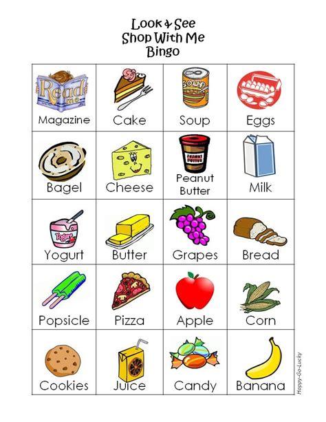 printable shopping list game grocery store bingo free printable