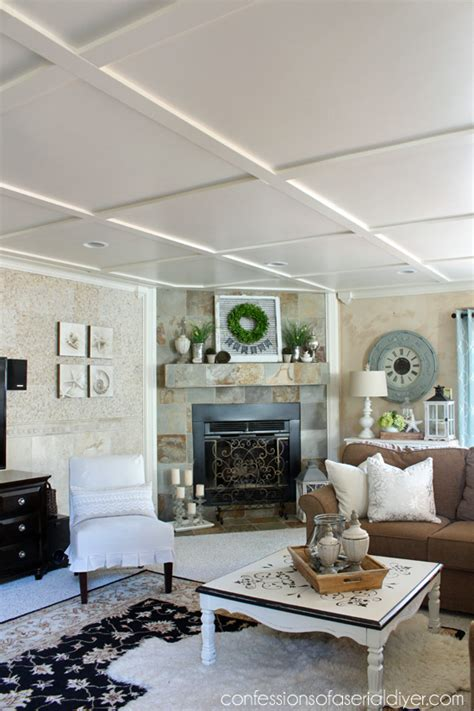 faux coffered ceiling faux coffered ceiling confessions of a serial do it