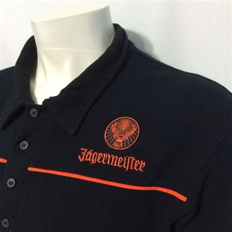 jagermeister sweater hoodie jagermeister large casual golf polo embroidered black shirt bartender jager bomb polos shirts