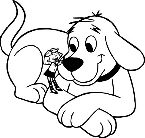 clifford the small puppy clifford the big and small coloring page wecoloringpage
