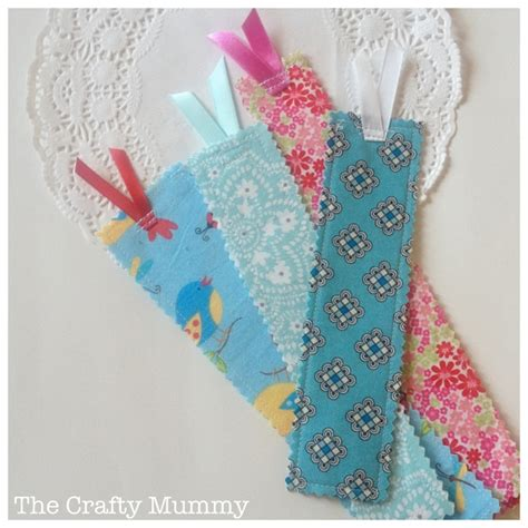 craft fabric fabric scrap bookmarks the crafty mummy