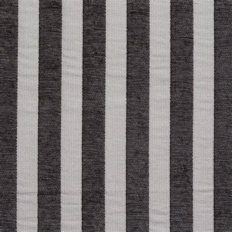 Black Chenille Upholstery Fabric by B0850e Black And Silver Woven Striped Chenille Upholstery
