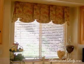 Kitchen Window Toppers Window Treatments Butterscotch