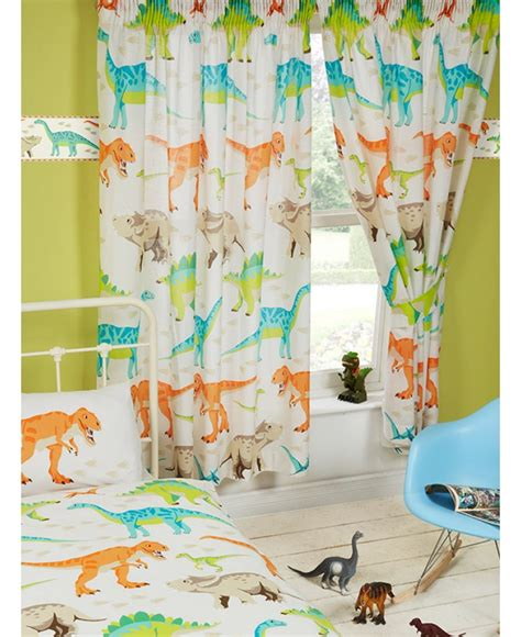 dinosaur curtains kids dinosaur world lined curtains bedroom kids t rex
